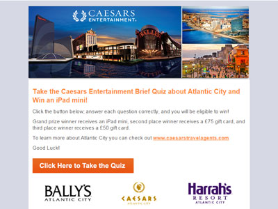 Caesars Atlantic City Survey
