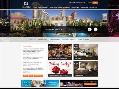 Caesars Entertainment website
