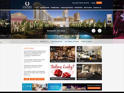 Caesars Entertainment website
